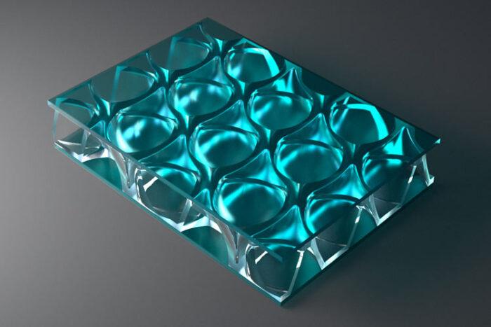 clear pep UV PC Light Blue