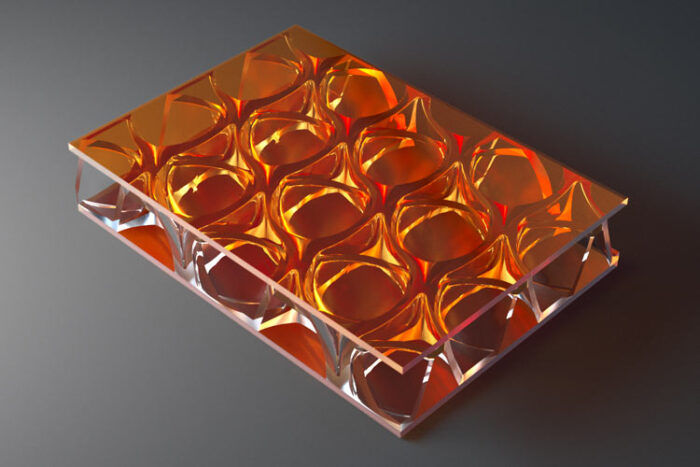clear pep UV PC Orange
