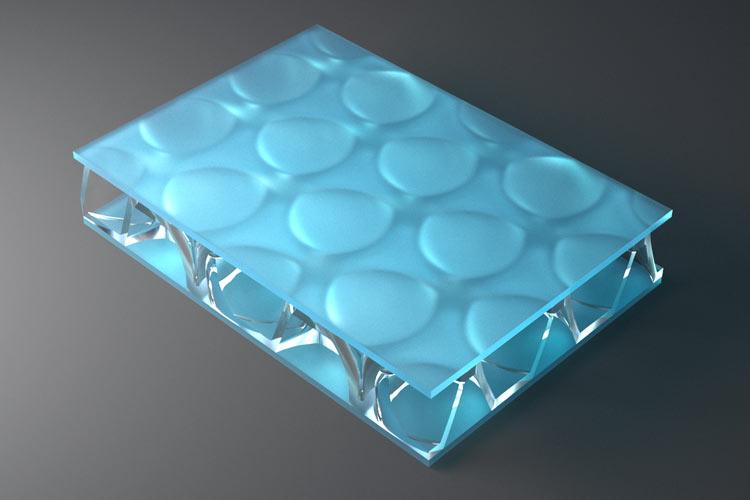 clear pep UV Satin Electric Blue
