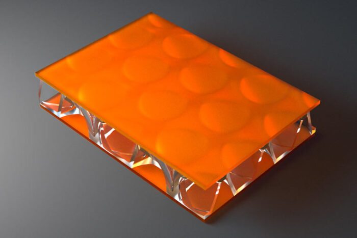 clear pep UV Satin Orange